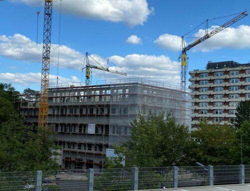 Großer Baufortschritt: Noch ein Stockwerk bis zum Siegert Medical Center
