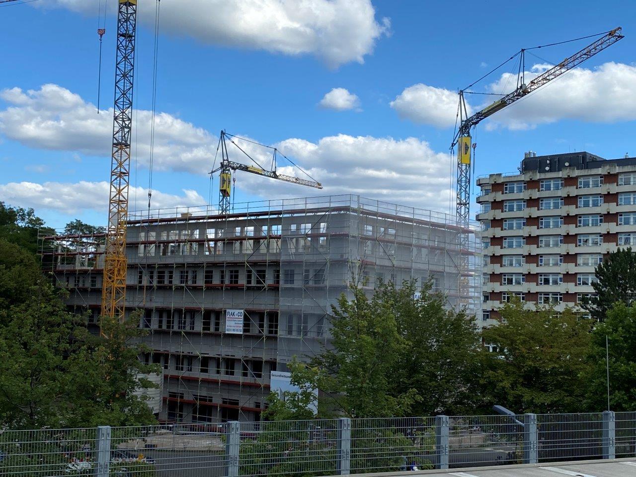 Großer Baufortschritt: Noch ein Stockwerk bis zum S•MED Center